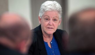 "Environmental Protection Agency Administrator Gina McCarthy called for the inspector general to ""temporarily halt"" a probe after an investigator reported threatening behavior from an official inside the homeland security office, documents show. (Associated Press)"