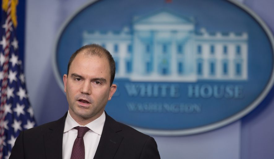 "His story: White House adviser Ben Rhodes wrote that a main objective should be to ""reinforce the president and the administration's strength."" (Associated Press)"