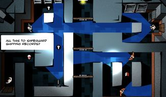 Help Rothko avoid enemies and complete missions in the iPad maze game Third Eye Crime.
