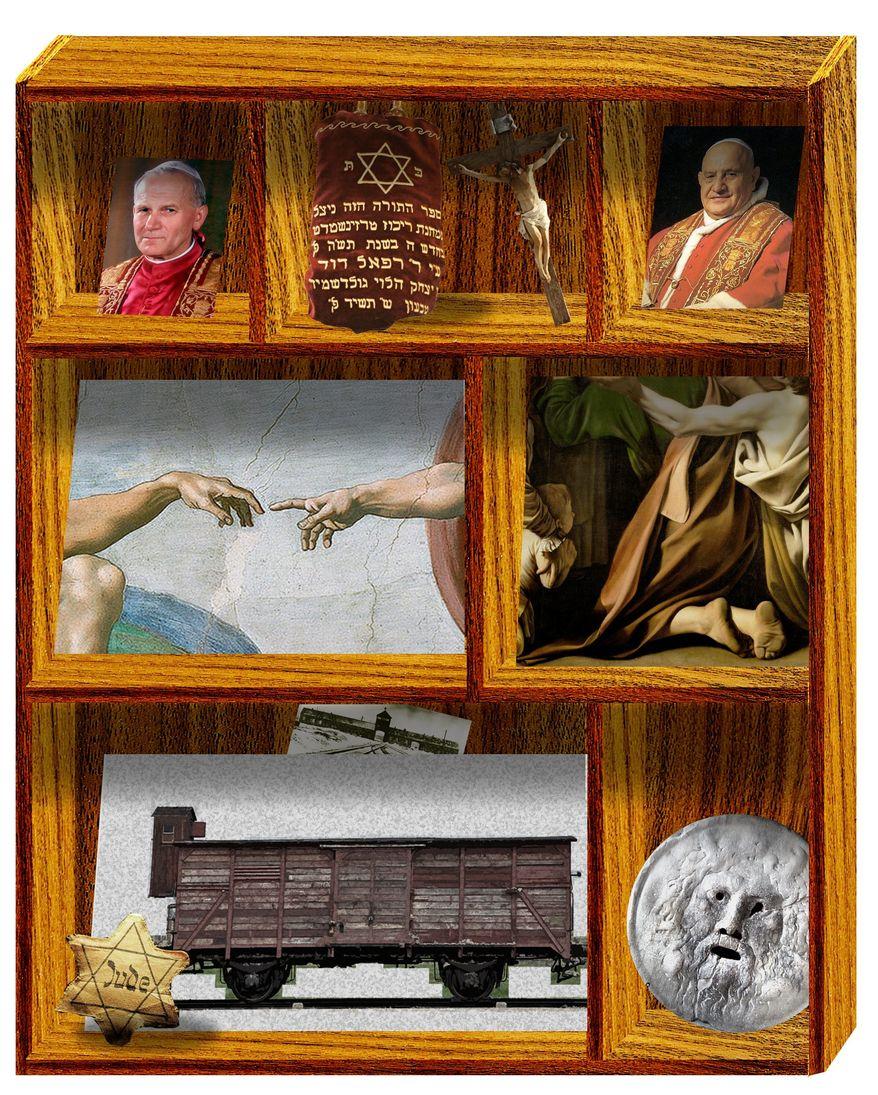 Illustration on Rome and Jewish Catholic history by Alexander Hunter/The Washington Times
