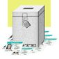Illustration on voter photo IDs by Alexander Hunter/The Washington Times