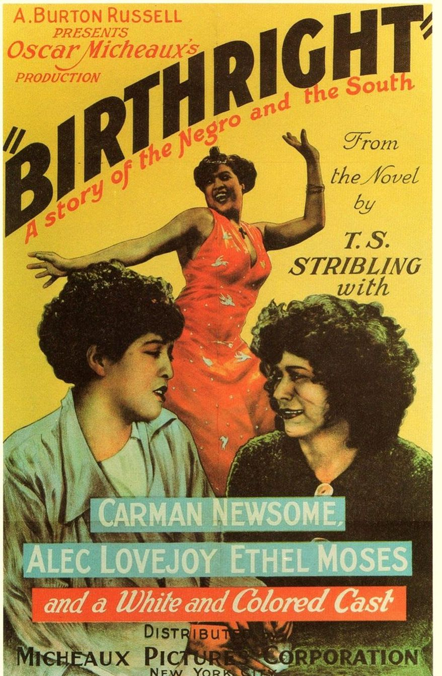 Poster for Oscar Micheaux's film 'Birthright' (1938).