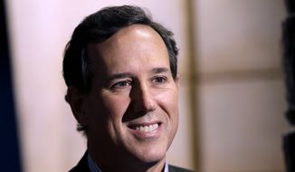 ** FILE ** In this Nov. 18, 2013, file photo former Pennsylvania Sen. Rick Santorum is seen in New York. (AP Photo/Seth Wenig, File)