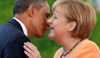 The White House said Thursday that there are no further complications in President Obama's relationship with German Chancellor Angela Merkel since she expressed deep resentment last year over revelations that the National Security Agency had spied on her personal and professional communications. The two will hold a joint press conference Friday after four hours of scheduled meetings (Associated Press)