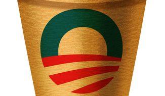Illustration on Obama's weak economic recovery by Alexander Hunter/The Washington Times