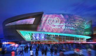 This artist's rendering provided by MGM Resorts shows the proposed sports arena in Las Vegas. Officials are set to break ground Thursday, May 1, 2014, on this new, 20,000-seat arena along the Las Vegas Strip that would improve the city's chances of attracting professional sports teams. Casino company MGM Resorts International and sports and entertainment giant AEG are marking the occasion with a ceremony. (AP Photo/MGM Resorts)