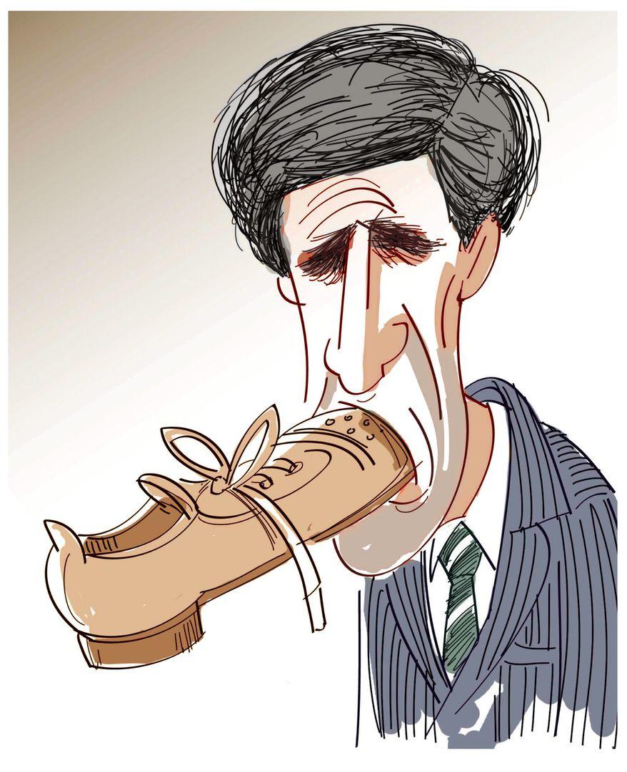Illustration of John Kerry by M.R. Herron