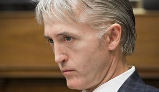 FILE - This file June 28, 2013 file photo shows House Oversight Committee member Rep. Trey Gowdy, R-S.C., during a hearing on Capitol Hill in Washington. House Speaker John Boehner on Friday declared he'd schedule a vote to create a select committee to investigate the Benghazi attack, escalating a political battle that has raged since the final days of President Barack Obama's re-election campaign. A senior Republican aide said Boehner was considering Gowdy to chair the select committee. The aide wasn't authorized to speak publicly on the matter and demanded anonymity. It's unclear when Boehner will schedule the vote.  (AP Photo/J. Scott Applewhite, File)