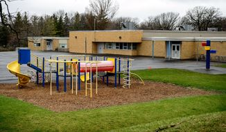 "Bombs were allegedly found in March at Hartley Elementery School playground in Waseca.  Authorities said Thursday, May 1, 2014, that they prevented an ""unimaginable tragedy"" by foiling a teenager's elaborate plot to kill his family and bomb the junior and senior high school in the southern Minnesota city of Waseca. (AP Photo/The Star Tribune,Glen Stubbe)"