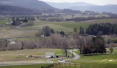 A view from the main lodge at Howe Caverns is seen on Thursday, May 1, 2014, in Howes Cave, N.Y. A handful of local business owners are vying to build casinos in upstate New York, joining a bidding competition that includes gambling giants like Caesars and Genting. (AP Photo/Mike Groll)
