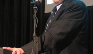 U.S. Rep. Don Young addresses the state Republican convention on Saturday, May 3, 2014, in Juneau, Alaska. (AP Photo/Becky Bohrer)