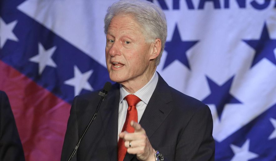 Former President Bill Clinton speaks at a political fundraiser for former Democratic Congressman and gubernatorial candidate Mike Ross in Little Rock, Ark., Saturday, May 3, 2014. (AP Photo/Danny Johnston) **FILE**