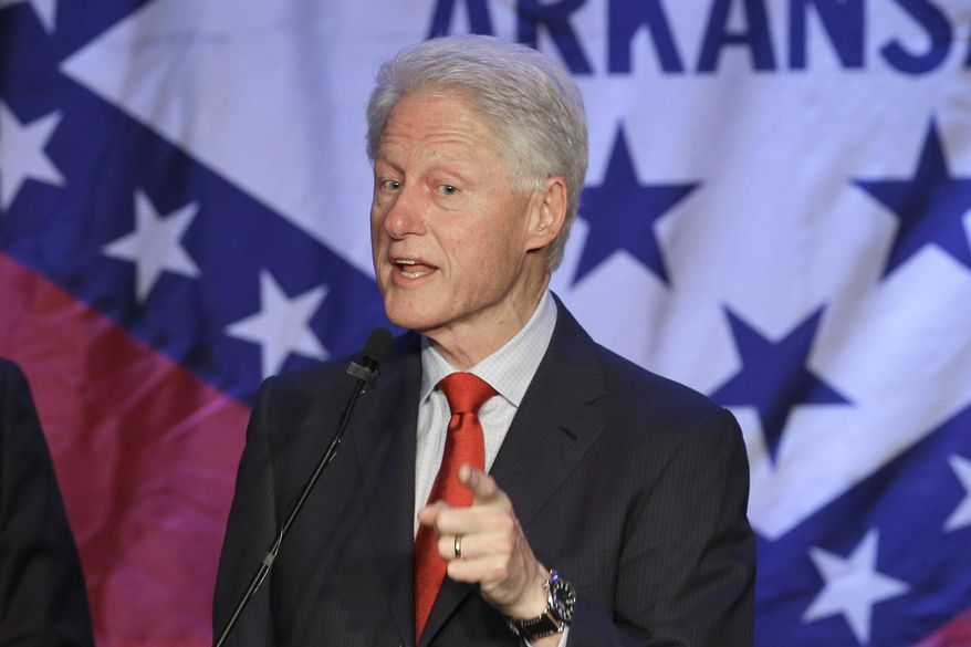 Former President Bill Clinton speaks at a political fundraiser for former Democratic Congressman Mike Ross in Little Rock, Ark., Saturday, May 3, 2014. Ross is running for Arkansas governor. (AP Photo/Danny Johnston)