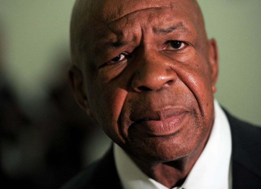** FILE ** Rep. Elijah Cummings, Maryland Democrat. (Associated Press)