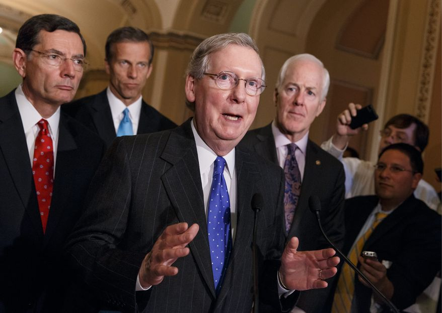 Minority Leader Mitch McConnell, Kentucky Republican, who would be in line to lead the Senate if his party wins control of the chamber in the November elections, is opposed to restoring the procedure of earmarking, a spokesman said. (Associated Press)