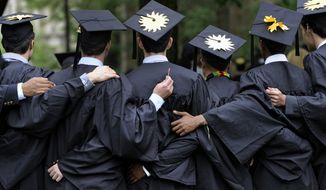 Current loan forgiveness policies stick taxpayers with college tabs run up by thousands upon thousands of those who choose to go the bachelor's degree route. (Associated Press/File)