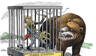 Illustration on Russian expansionism by Heng, Lianhe ZaoBao, Singapore