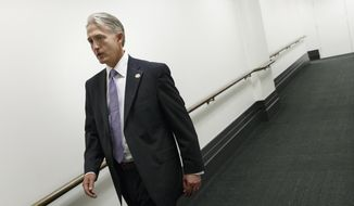Rep. Trey Gowdy, R-S.C., leaves a closed-door Republican strategy meeting at the Capitol in Washington, Wednesday, May 7, 2014. Speaker of the House John Boehner has tapped Gowdy, a former federal prosecutor, to chair a special select committee to investigate the attack on the U.S. diplomatic outpost in Benghazi, Libya, that killed the ambassador and three other Americans. Benghazi resonates with Republicans and remains a rallying cry with conservatives whose votes are crucial to the GOP in November's historically low-turnout midterm elections.  (AP Photo/J. Scott Applewhite)