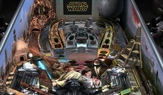 "Zen Studios' Star Wars Pinball: Heroes Within for the PlayStation 4 features four new pinball tables including one themed to the movie ""Star Wars: Episode IV, A New Hope."""