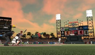 """This image released by Sony shows a scene from the """"MLB 14: The Show,"""" video game. (AP Photo/Sony)"""