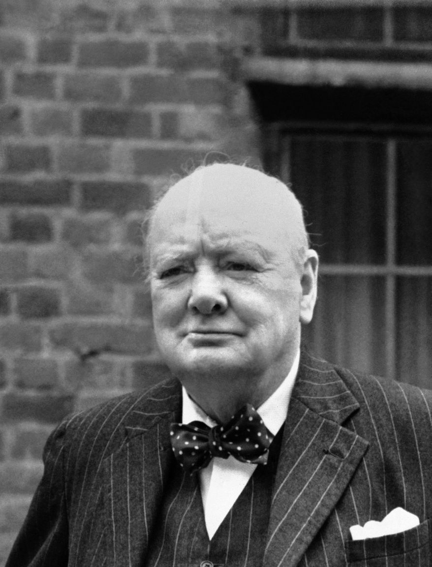 Winston Churchill, leader of the opposition in the present Parliament, shown on grounds of Chartwell, his Westerham, Kent, home on Sept. 20, 1951. (AP Photo)
