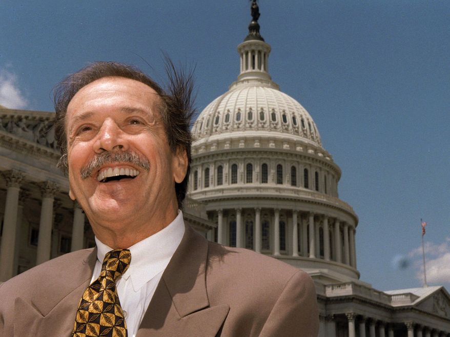 ** FILE ** In this is May 7, 1997 file photo of Rep. Sonny Bono is seen on Capitol Hill in Washington. (AP Photo/Joe Marquette, File)