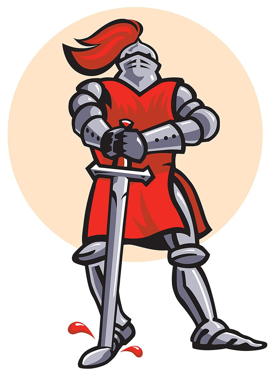 Rutger's Red Knight Illustration by Greg Groesch/The Washington Times