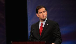 """Sen. Marco Rubio, Florida Republican was in New Hampshire for a GOP fundraiser on Friday, then made his case for the White House known on ABC's """"This Week."""" He said if he decides to run for president, he will have a Senate exit strategy. (Associated Press)"""