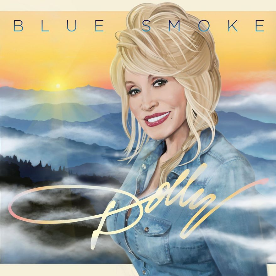 """This CD cover released by Sony shows """"Blue Smoke,"""" by Dolly Parton. (AP Photo/Sony)"""
