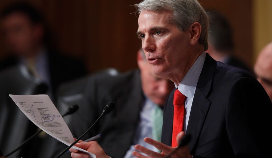 """Sen. Rob Portman of Ohio was one of three Republicans that voted to end his party's filibuster of the energy efficiency bill. Mr. Portman, who co-sponsored the bill, called its defeat """"yet another disappointing example of Washington's dysfunction."""""""