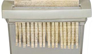 Amendment Shredder Illustration by Linas Garsys/The Washington Times