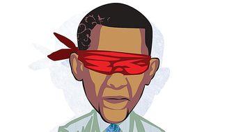 Weak Leadership Illustration by Linas Garsys/The Washington Times
