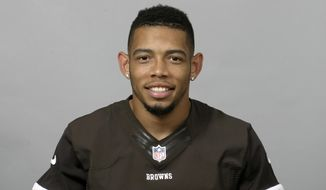 FILE - This is a 2013 file photo showing Joe Haden of the Cleveland Browns NFL football team. The agent for cornerback Joe Haden tells The Associated Press the Browns have signed the Pro Bowl cornerback to a five-year, $68 million contract. Agent Drew Rosenhaus said Monday, May 12, 2014,  that Haden's deal includes $45 million in guaranteed money.  (AP Photo/File)