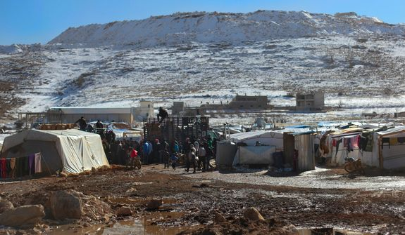 The town of Arsal is becoming a makeshift refugee camp for Syrians fleeing the fighting in border towns like Kalamoun and Al Qusair that have seen very heavy fighting in the last six months. Aid to these camps in brought in by private charities like Lebanese for Syrians.