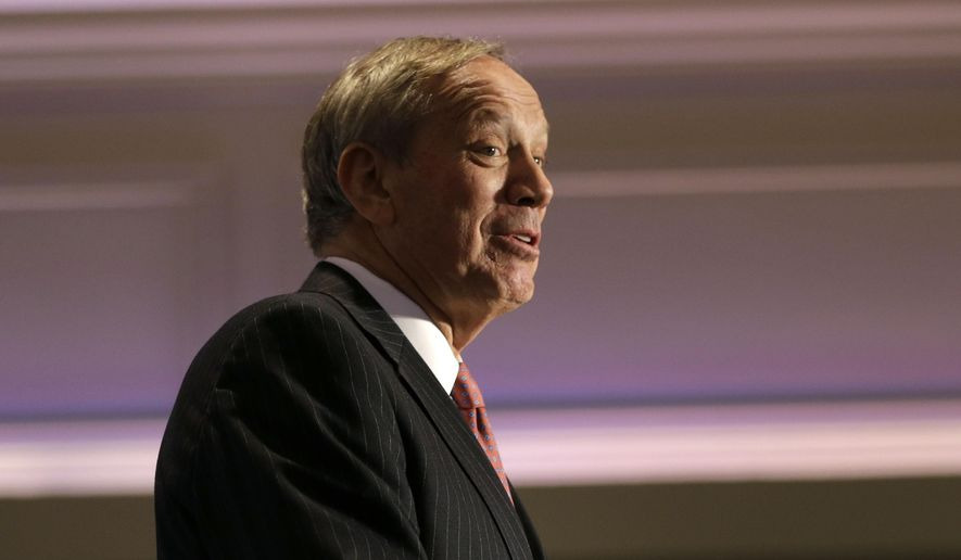 ** FILE ** Former New York Gov. George Pataki speaks during the New York State Republican Convention in Rye Brook, N.Y., Wednesday, May 14, 2014. (AP Photo/Seth Wenig)