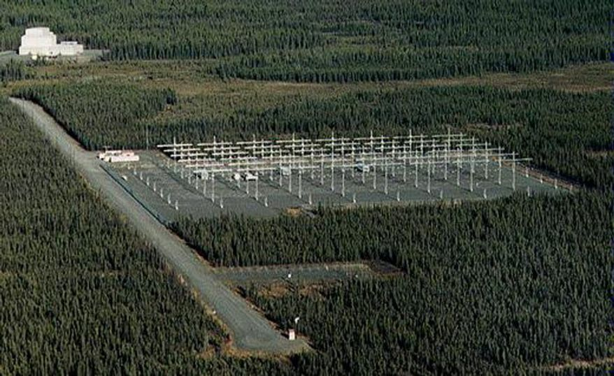 The HAARP installation in southeastern Alaska