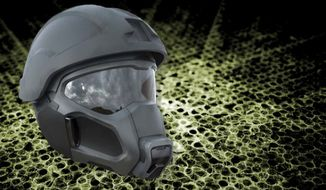 "The U.S. Army's new high-tech headgear has been compared to something out of the video game ""Halo."" (U.S. Army via LiveScience)"