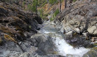 In this April 18, 2014 photo, York Creek flows down the mountains and into the Illinois River on the Illinois River Trail in the Kalmiopsis Wilderness near Grants Pass and Cave Junction. (AP Photo/Statesman Journal, Zach Urness)