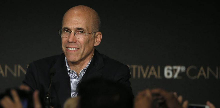 Head of Dreamworks Jeffrey Katzenberg attends a press conference for How to Train Your Dragon 2 at the 67th international film festival, Cannes, southern France, Friday, May 16, 2014. (AP Photo/Alastair Grant)