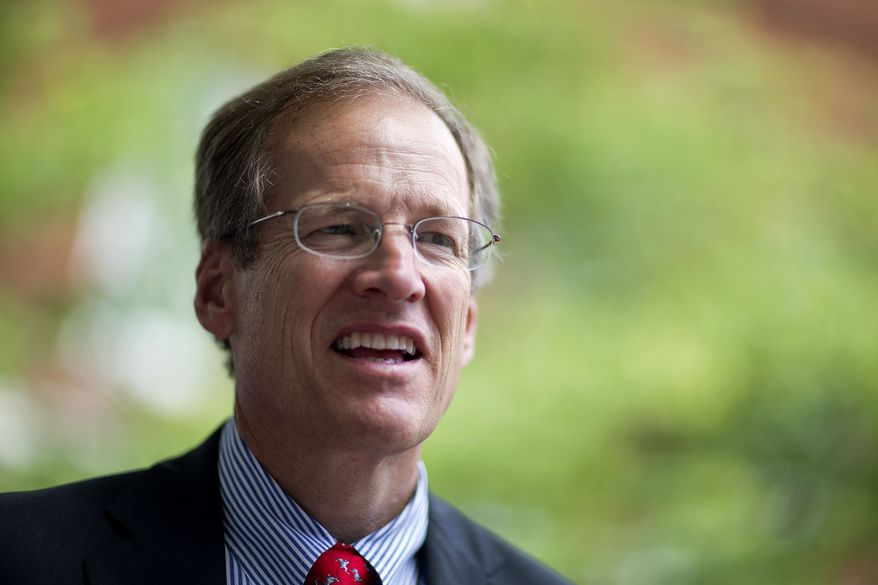 ** FILE ** In this May 14, 2014, photo, Georgia Republican Senate candidate, Rep. Jack Kingston, speaks at a campaign event in Douglasville, Ga. (AP Photo/David Goldman)