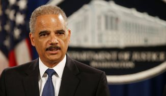 """""""I have repeatedly made clear that profiling by law enforcement is not only wrong, it is profoundly misguided and ineffective,"""" said Attorney General Eric H. Holder Jr.. """"Particularly in light of certain recent incidents we've seen at the local level, and the widespread concerns about trust in the criminal justice process, it's imperative that we take every possible action to institute strong and sound policing practices."""" (Associated Press)"""