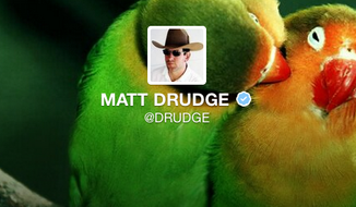 Matt Drudge's Twitter profile.