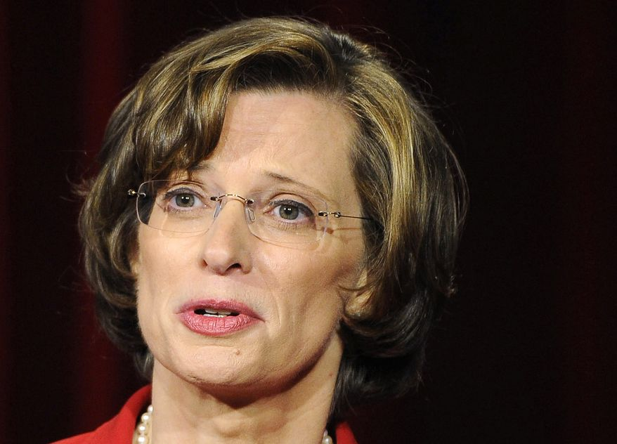 FILE - This May 11, 2104, photo, shows Georgia Democratic Senate candidate Michelle Nunn participating in a debate at the Georgia Public Broadcasting studio in Atlanta. Under pressure, Nunn struggled to explain her position on President Barack Obama's health care overhaul Monday, May 19, as candidates in six states went through the final paces of bruising primary campaigns for congressional and statewide offices.  (AP Photo/David Tulis)