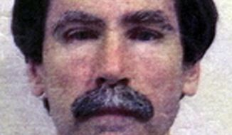 FILE - This undated file image provided by the Department of Justice shows convicted serial rapist Christopher Hubbart. A Santa Clara County judge is exploring whether to release Hubbart to a Southern California residence over the objections of the Los Angeles County district attorney and others. Authorities announced Friday, April 4, 2014, that a landlord in a sparsely populated area east of Palmdale has agreed to rent a home to Hubbart when he is released from the mental hospital he has be confined to since 1996. Hubbart admitted to raping 38 women between 1971 and 1982. (AP Photo/Department of Justice, File)