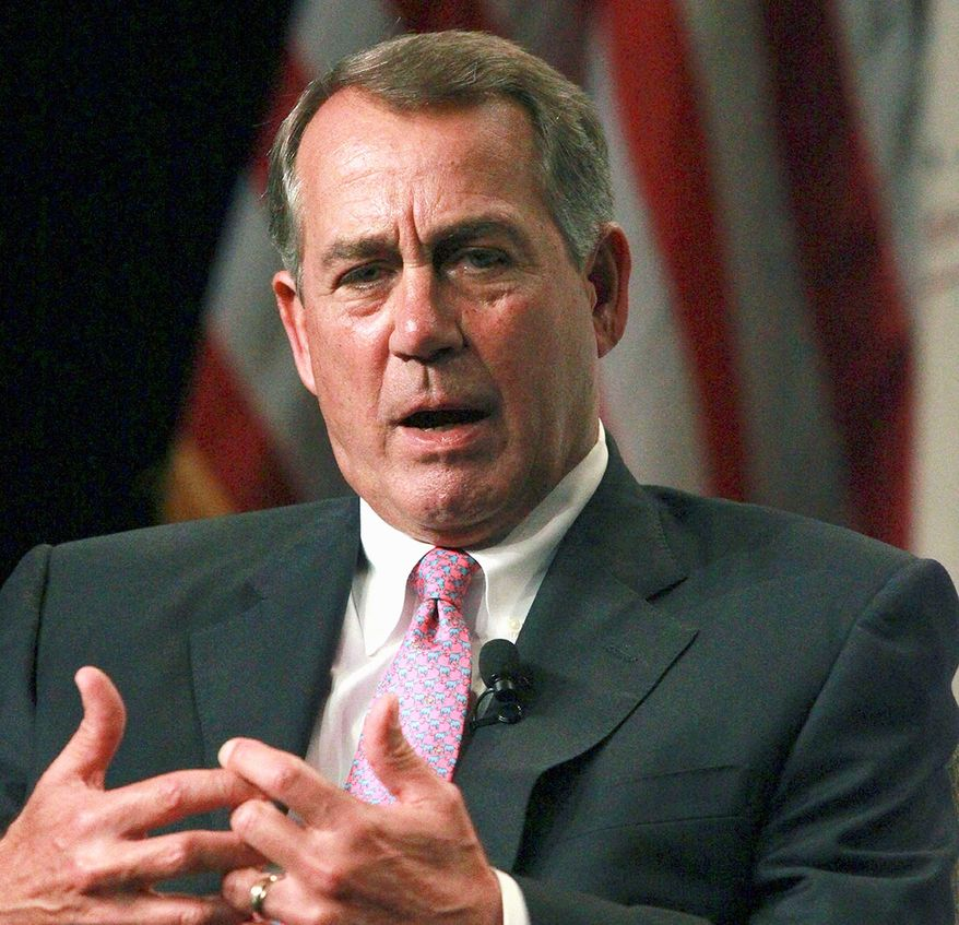 House Speaker John A. Boehner said the president's unilateral move is exactly the type of action the GOP has been warning against, saying it shows the president isn't serious about enforcing border security. (AP Photo/San Antonio Express-News, John Davenport, Pool)