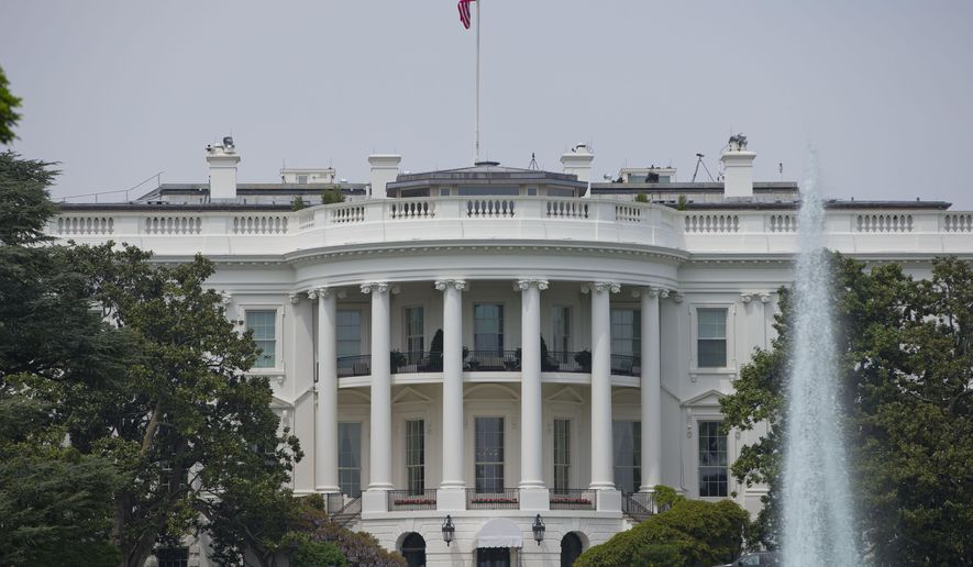 This May 9, 2014, photo shows the South Portico of the White House in Washington. (AP Photo/Pablo Martinez Monsivais, File)