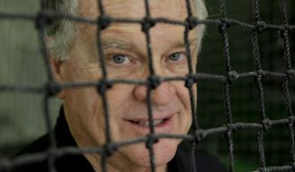 ADVANCE FOR WEEKEND EDITIONS, MAY 24-25 - In this Thursday, May 22, 2014 photo, Dr. Bill Harrison poses for a picture at the Baseball Performance Academy in San Juan Capistrano, Calif. A hitter will try just about anything to gain even a slight edge on a pitch that arrives in about the time it takes to blink.  (AP Photo/Chris Carlson)