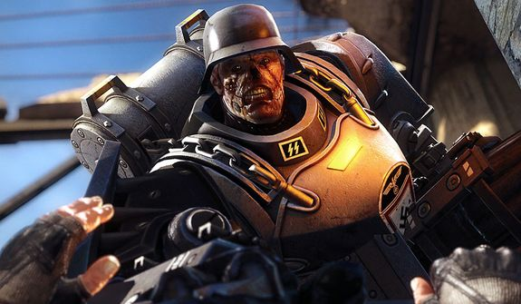 The Third Reich builds ugly cyborg soldiers  in the first person shooter Wolfenstein: The New Order.