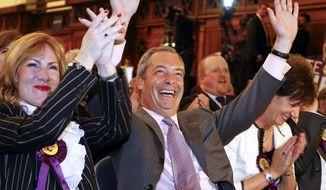 Nigel Farage, leader of Britain's UK Independence Party (UKIP). (AP Photo)