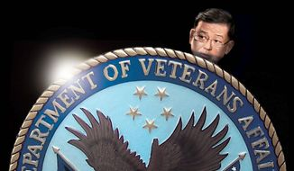 Illustration on Sec. Shinseki and problems with the VA by M. Ryder/Tribune Content Agency